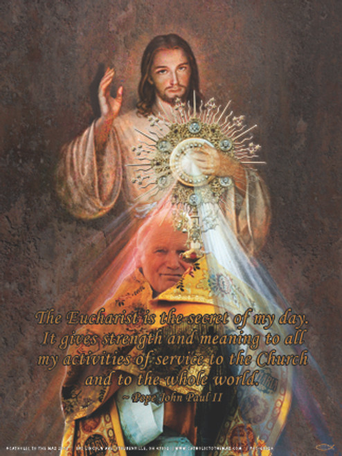 John Paul II Divine Mercy Poster