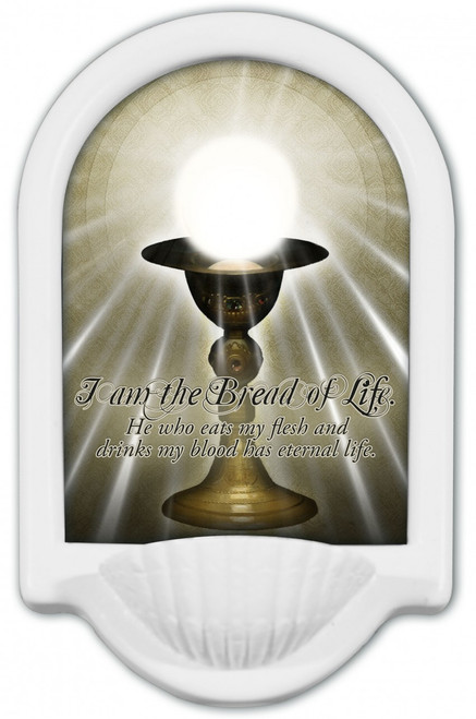 I am the Bread of Life Holy Water Font