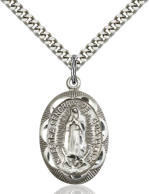 Sterling Silver O/L of Guadalupe Medal