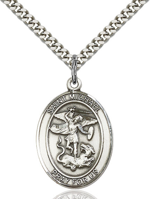 Sterling Silver St. Michael Medal