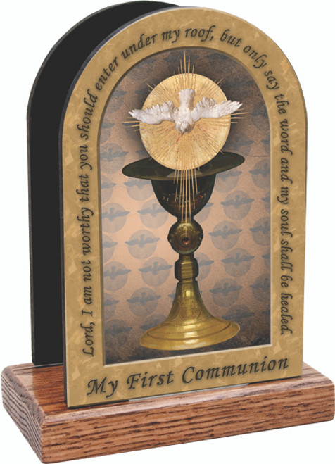 Chalice with Holy Spirit Table Organizer (Vertical)