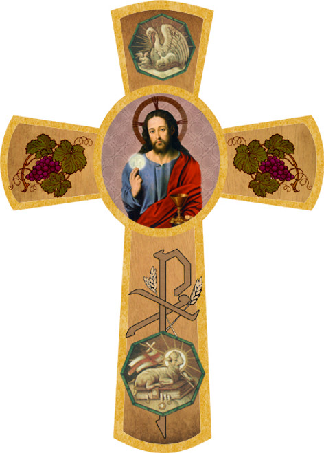 First Communion (Christ with Eucharist) Wall Cross