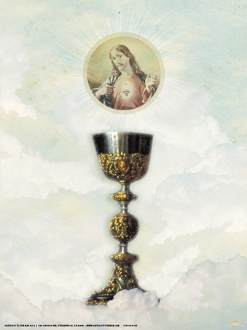 Eucharist with Sacred Heart Poster