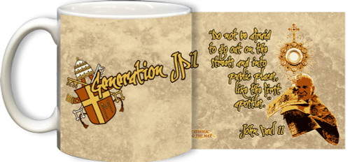 Generation JPII Mug (Rock Background)