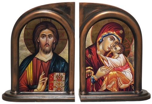 Icon Jesus and Mary Bookends