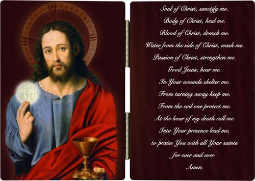 Christ Holding Eucharist Anima Christi Diptych