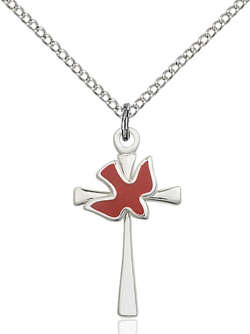 Sterling Silver Holy Spirit Cross Medal