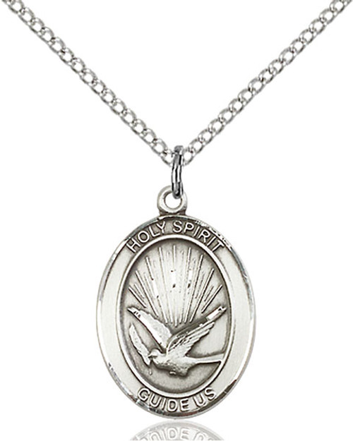 Sterling Silver Holy Spirit Medal Oval