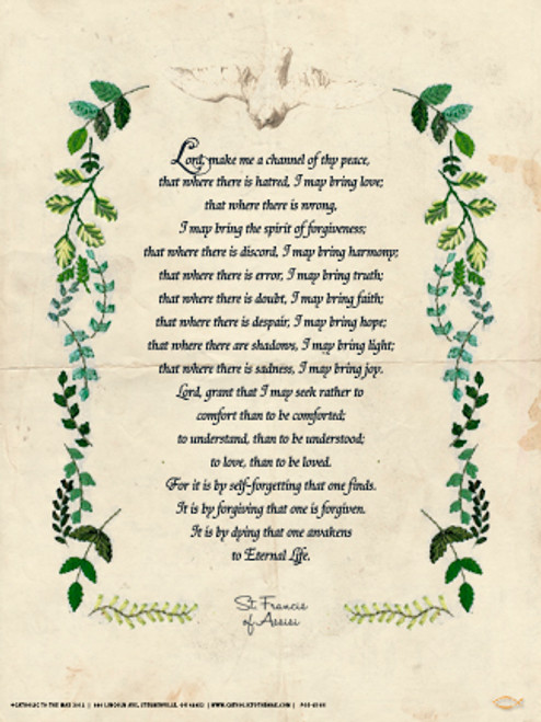 St. Francis Prayer Poster