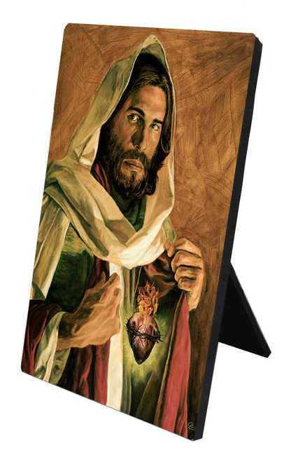Sacred Heart of Jesus Desk Plaque