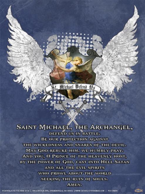 St. Michael Defend Us Heraldic Poster