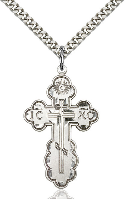 Sterling Silver Cross St. Olga