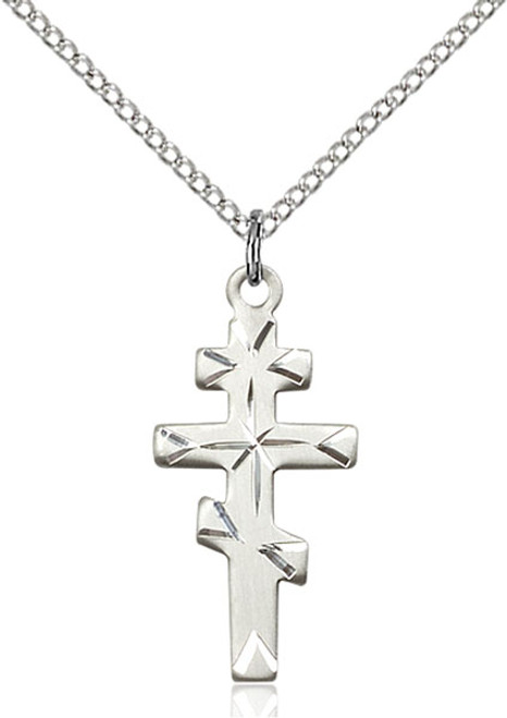 Sterling silver cross on an 18 inch stainless chain