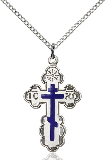 Sterling silver cross on a 24 inch stainless chain