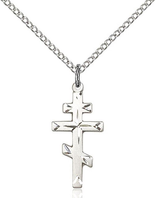 Sterling silver cross on a 18 inch stainless chain