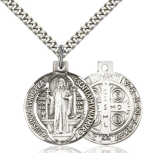 Sterling silver medal on a 24 inch stainless chain