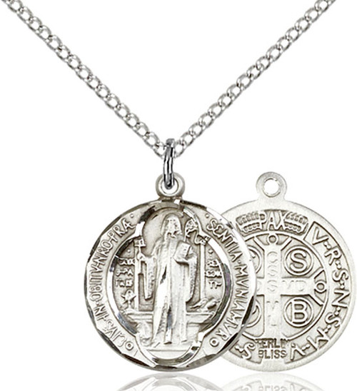 Sterling silver medal on an 18 inch stainless chain