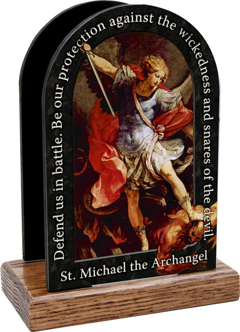 St. Michael the Archangel Prayer Table Organizer (Vertical)