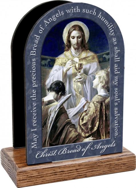 Christ, Bread of Angels Prayer Table Organizer (Vertical)