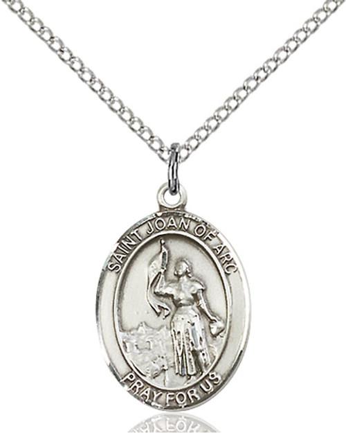 Sterling Silver Medal St. Joan of Arc
