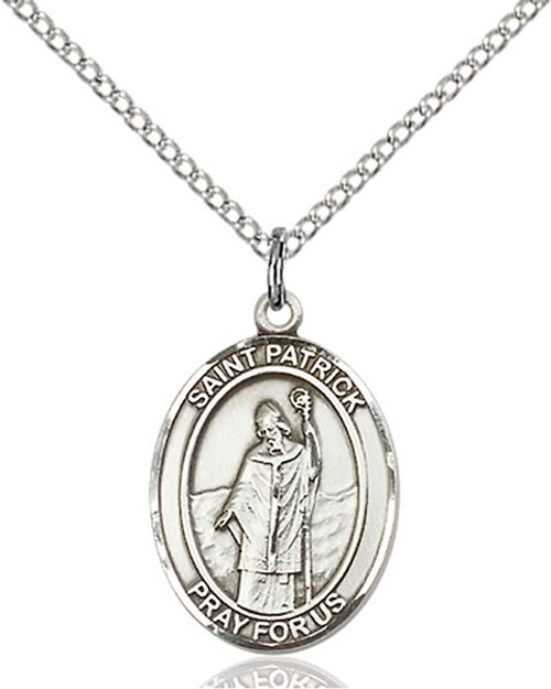 Sterling Silver Medal St. Patrick