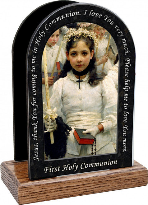 After the First Holy Communion (Detail 1 Girl) Prayer Table Organizer (Vertical)
