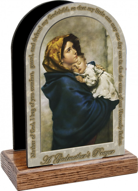 Madonna of the Streets Godmother's Prayer Table Organizer (Vertical)