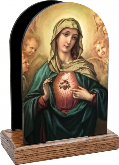 Immaculate Heart of Mary Table Organizer (Vertical)