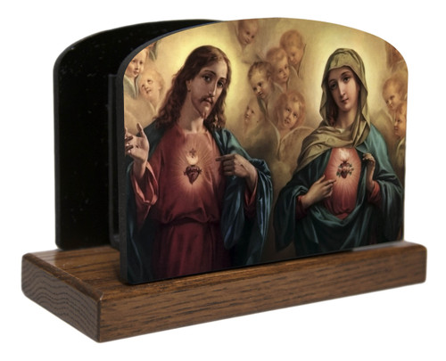 Sacred and Immaculate Hearts Horizontal Table Organizer