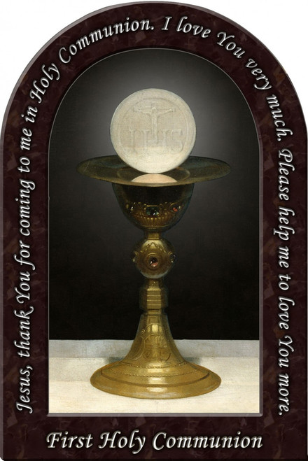 First Communion Prayer Arched Magnet