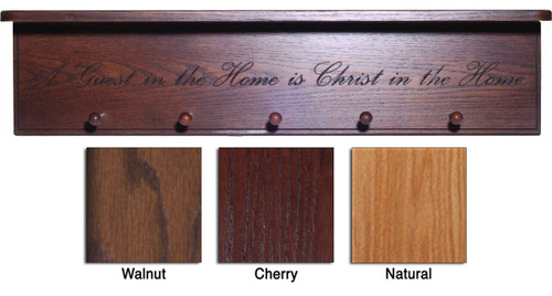 A Guest in the Home in Christ in the Home Engraved Wood Shelf