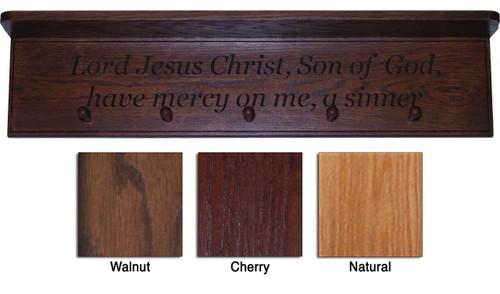 Sinner's Prayer Engraved Wood Shelf