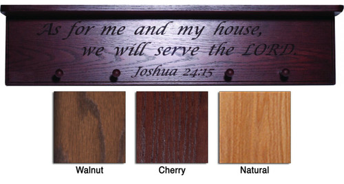As For Me and My House... Engraved Wood Shelf
