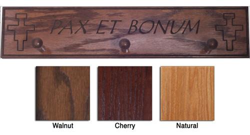 Pax Et Bonum Wood Shelf