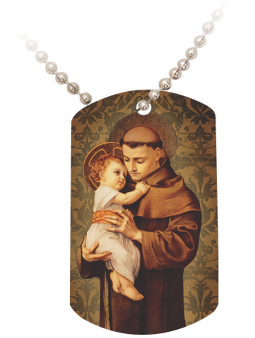 St. Anthony with Jesus Dog Tag