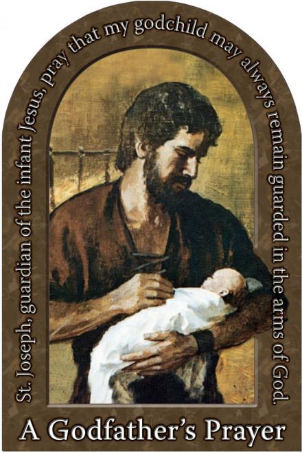 A Godfather's Prayer Arched Magnet