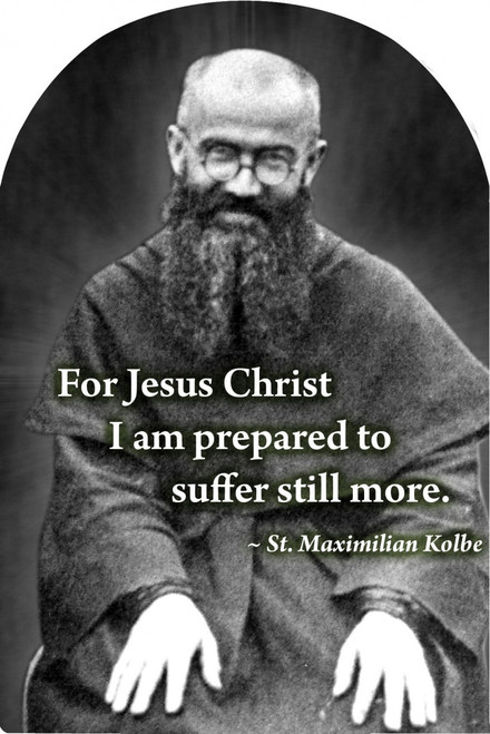 St. Maximilian Kolbe Arched Magnet