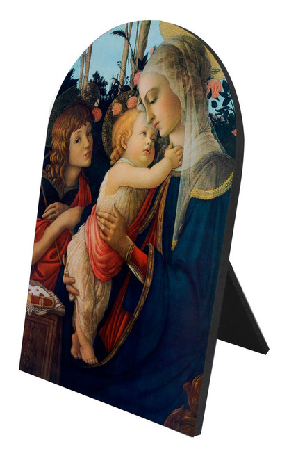 Virgin and her Child Arched Desk Plaque