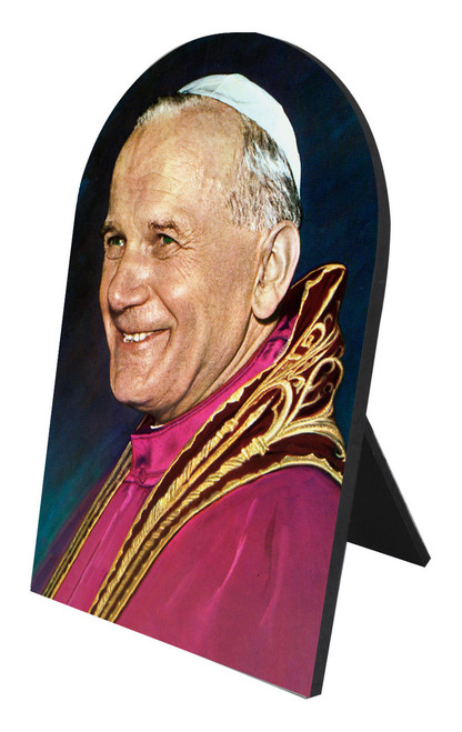 Pope John Paul II Arched Desk Plaque