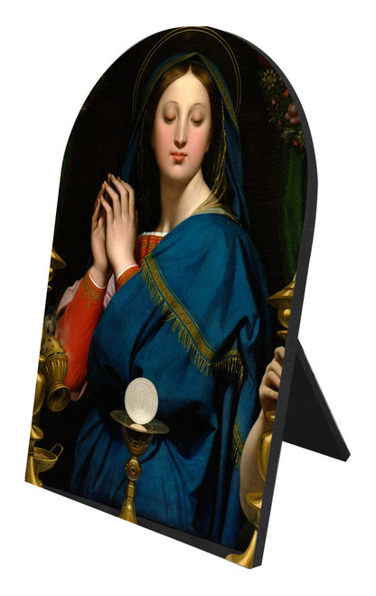 Madonna of the Host Arched Desk Plaque