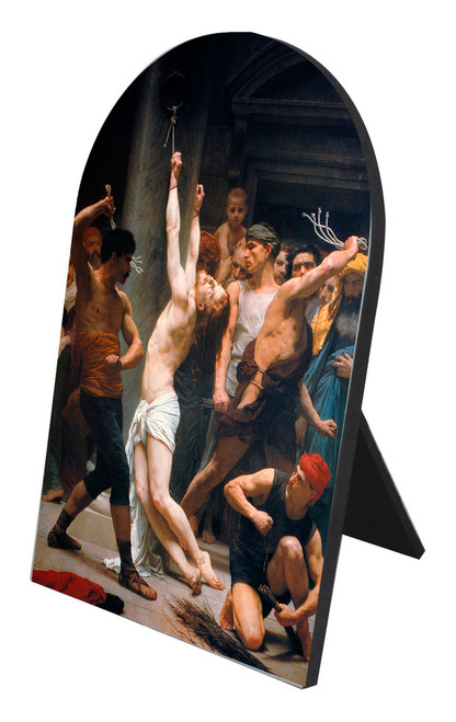 The Flagellation of Christ Arched Desk Plaque