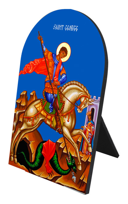 St. George and the Dragon Arched Desk Plaque