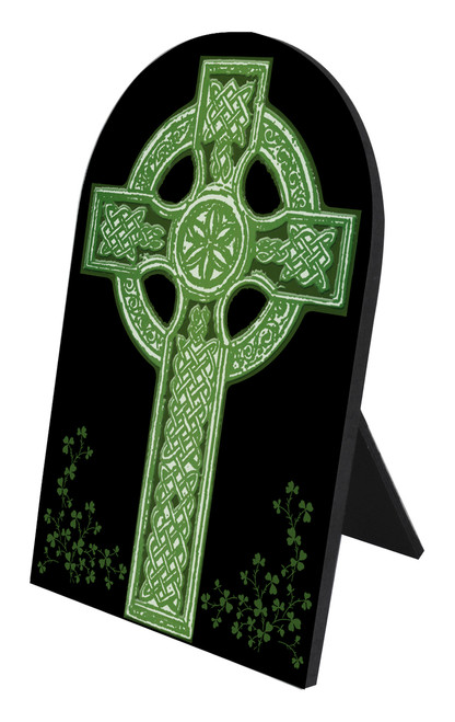 Celtic Cross Arched Desk Plaque