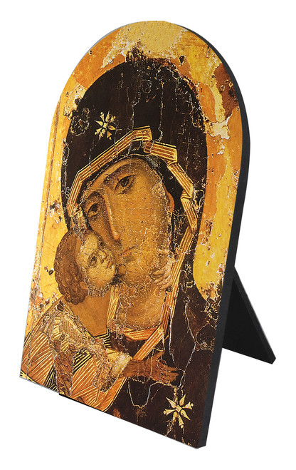 Our Lady of Vladimir Detail Arched Desk Plaque