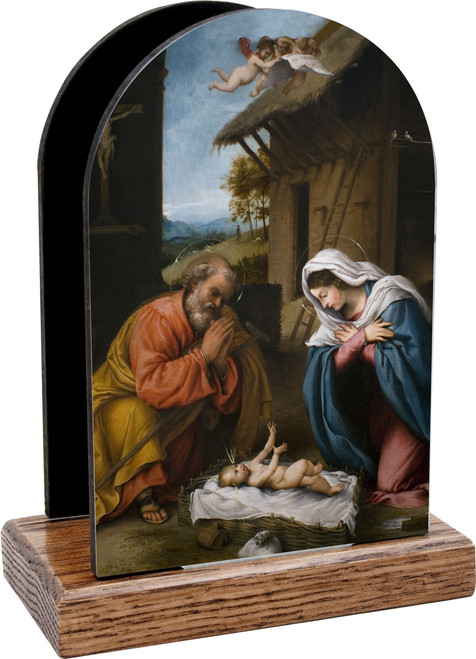 Nativity with Reaching Jesus Table Organizer (Vertical)