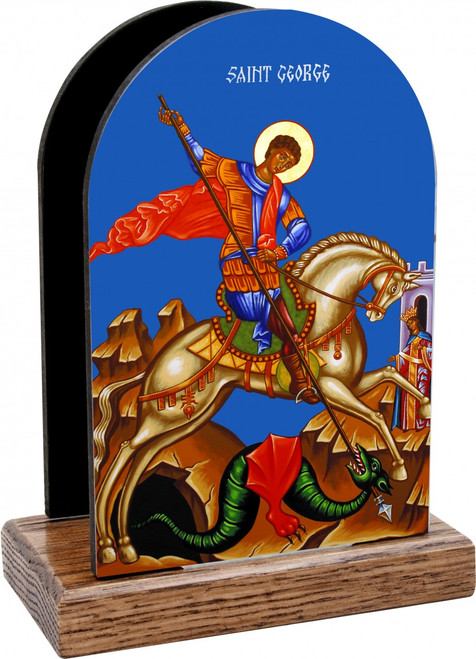 St. George and the Dragon Table Organizer (Vertical)