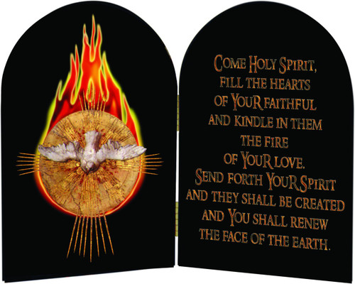Come Holy Spirit Arched Diptych