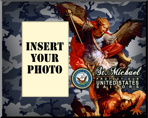 Navy St. Michael Photo Frame