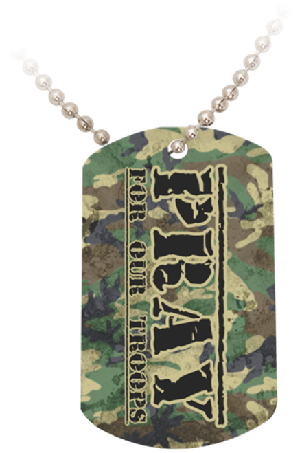 Pray for Our Troops Dog Tag