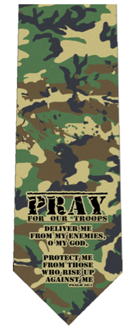 Pray for Our Troops Tie